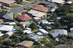 Aerial of housing. In Queensland, Australia Royalty Free Stock Image