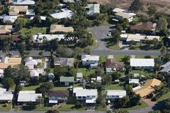 Aerial of housing. Aerial of  in housing Queensland, Australia Royalty Free Stock Images