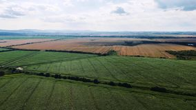 Aerial hyperlapse of beautiful countryside around Birmingham, UA. Fast moving timelapse with clouds stock video