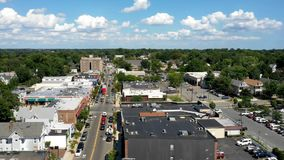 Aerial Hyperlapse in Highland Park New Jersey stock video footage