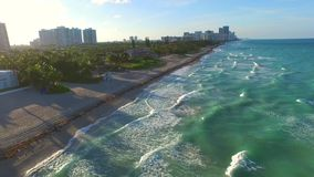 Aerial hyperlapse video beach. Aerial hyperlapse video of Golden Beach FL 4k stock video footage