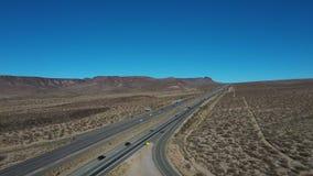 Aerial I15 freeway Las Vegas to Los Angeles Halloran Springs 4K 205