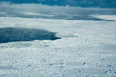 Aerial of ice on the Hudson Bay Stock Photography