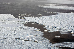 Aerial of ice on the Hudson Bay Stock Images