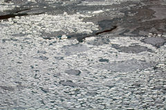 Aerial of ice on the Hudson Bay Stock Image