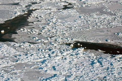 Aerial of ice on the Hudson Bay Royalty Free Stock Image