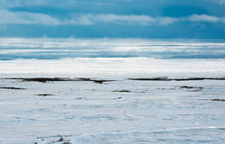 Aerial of ice on the Hudson Bay Royalty Free Stock Images