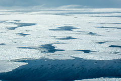 Aerial of ice on the Hudson Bay. Aerial image of frozen Hudson Bay in Manitoba Canada in November Stock Photos