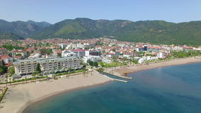Aerial of Icmeler, Turkey stock footage