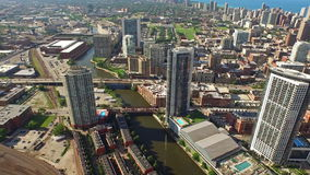 Aerial Illinois Chicago Day stock video footage