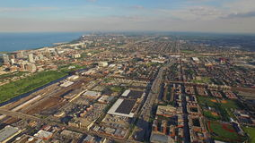 Aerial Illinois Chicago Day stock video