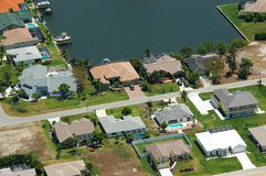 Aerial image. Residential area aerial image stock images