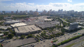Aerial image of Aventura Mall Royalty Free Stock Photos