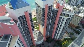 Aerial image of beachfront architecture South Florida Stock Photos