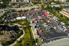 Aerial image of the Broward County youth Fair in Hallandale FL. Broward County youth fair shot from above with an aerial drone pov Stock Image
