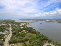 Aerial image of Daytona and the Halifax River Stock Photo