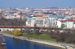 Aerial image of downtown of berlin Royalty Free Stock Images