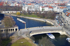 Aerial image of downtown of berlin Stock Image
