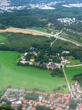 Aerial image of Finnish scenery. Aerial image of outskirts of the capital region of Finland royalty free stock photo