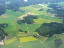 Aerial image of Finnish scenery Royalty Free Stock Photo