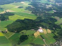 Aerial image of  Finnish scenery Royalty Free Stock Photography