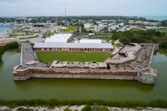 Aerial image of Fort Zachary State Park and National Marina Sanc Stock Images