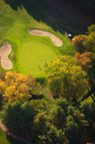 Aerial image of a golf course. Royalty Free Stock Image