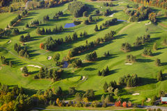 Aerial image of a golf course. Royalty Free Stock Photos