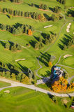 Aerial image of a golf course. Stock Photo