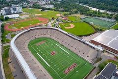 Harvard sports fields. Aerial image of Harvard University sports fields Stock Photo