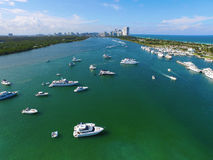Aerial image Haulover Park Miami Beach Royalty Free Stock Photos