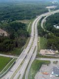 Aerial image of highway Stock Photos