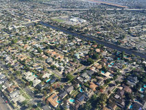 Aerial image of homes Royalty Free Stock Photo