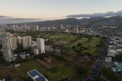 Aerial image Honolulu Hawaii Stock Image