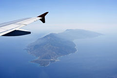Aerial image of Ikaria Stock Images