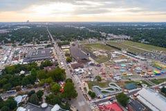 Aerial Fairgrounds Iowa USA. Aerial image of the Iowa State Fair USA Royalty Free Stock Photography