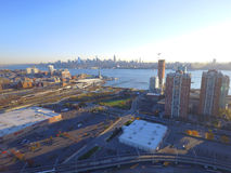 Aerial image of Jersey City Newport Royalty Free Stock Images