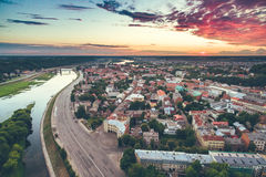 Aerial image of Kaunas city Royalty Free Stock Photography