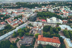 Aerial image of Kaunas city Stock Images