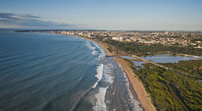 Aerial image looking towards Durban Royalty Free Stock Image