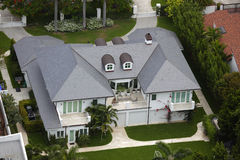 Aerial image of a luxury house Royalty Free Stock Photo