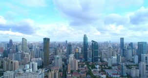 Aerial image of a megacity royalty free stock photos