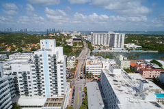 Aerial image Miami Beach 41st Street Arthur Godfrey Road Royalty Free Stock Image