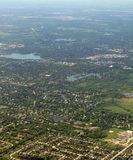 Aerial image. Of Midwest, USA royalty free stock photography