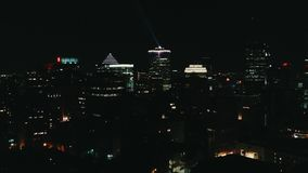 Aerial image of Montreal Canada by night royalty free stock photography
