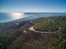 Aerial image of Mornington Peninsula. Suburban view taken from Arthurs Seat national Park. Melbourne, Victoria, Australia royalty free stock images