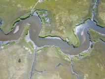 Aerial Image of New England Wetland stock images