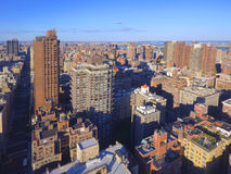 Aerial image of New York City Manhattan Stock Images