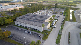 Aerial image of the North Miami Post Office USPS Stock Photography