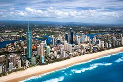Aerial Image Of The Gold Coast City Royalty Free Stock Images
